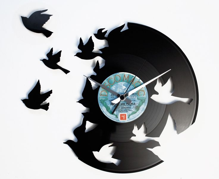 Disc'O'Clock Ceas de perete Birds