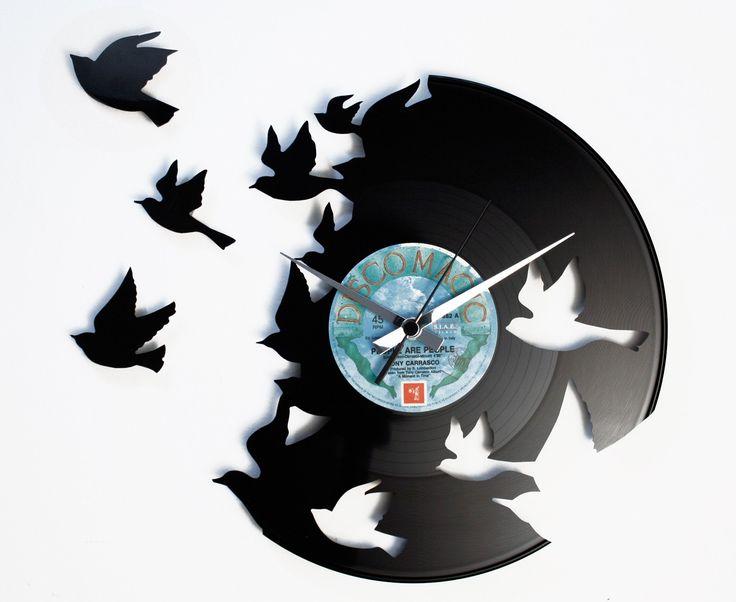 Disc'O'Clock Ceas de perete Birds