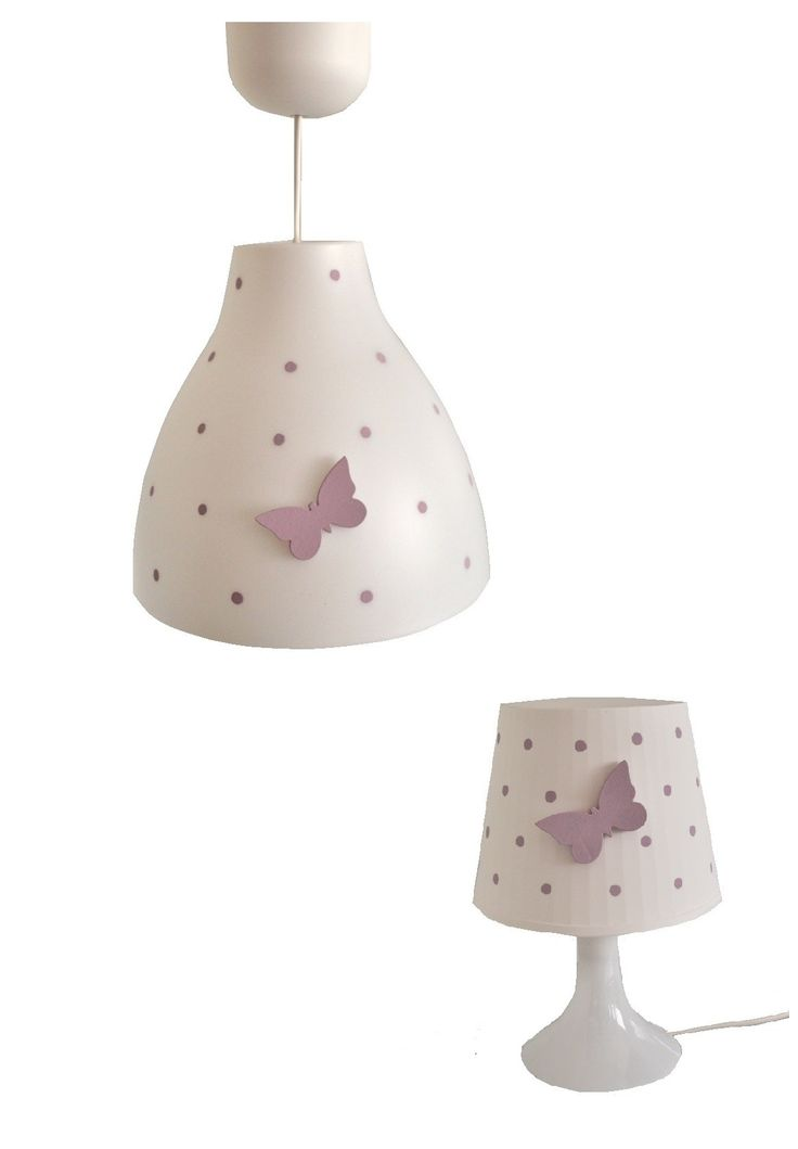 Zestaw lamp z motylkiem