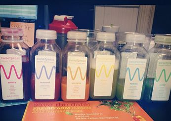 Best Juice Bars on Food & Wine  Washington, DC: sweetpress   The team behind DC's Sweetgreen salad chain brings its eco ethos to this juice bar, using 100 percent compostable packaging and reclaimed building materials.   www.sweetpressjuice.com/