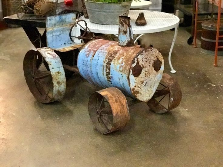 So Cute! Yard Art Tractor On Sale   Was $200 Sale Price $160  Vintage Affection Dealer #1680  White Elephant Antiques 1026 N. Riverfront Blvd. Dallas, TX 75207