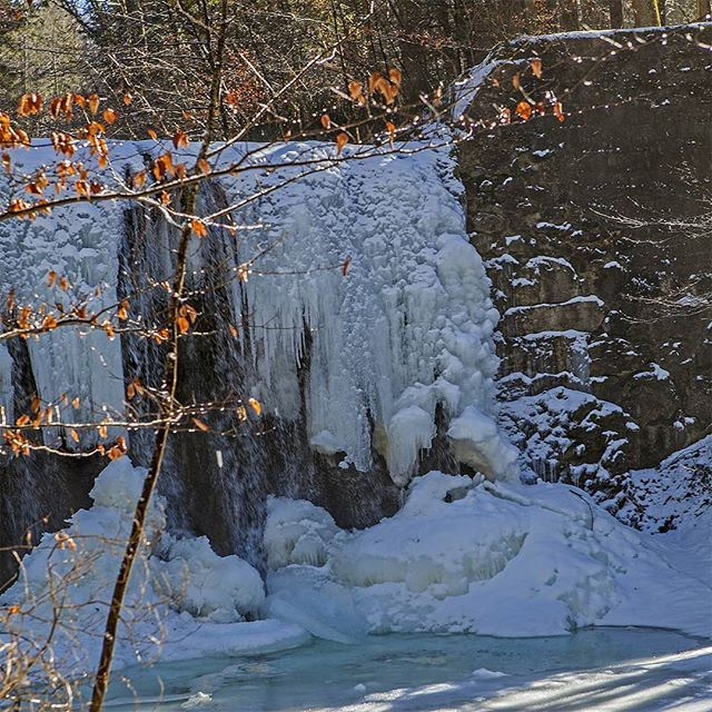 #last #signs of a #cold oh so #cold #february resulting in this #majestic #sculpture of #white #ice a #waterfall #stilllife; #nature #winter #landscape #snow #ice #artwork #illumination #meditation #thankfullness #mindfulness #hipandhealthy #presence #beauty #soulfood