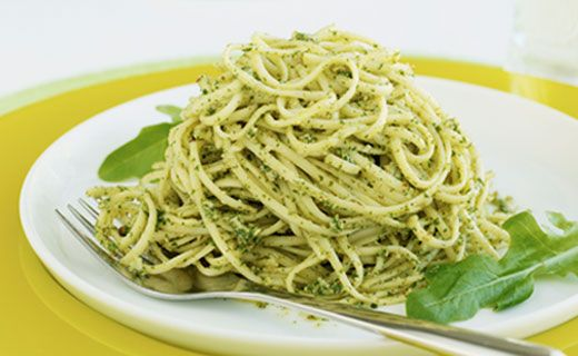 Epicure's Angel Hair Pasta with Pesto and Lemon