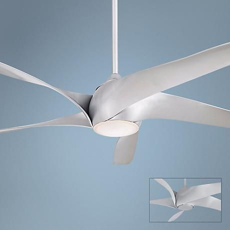 "52"" Minka Aire Light Wave Silver Ceiling Fan - #4T480 