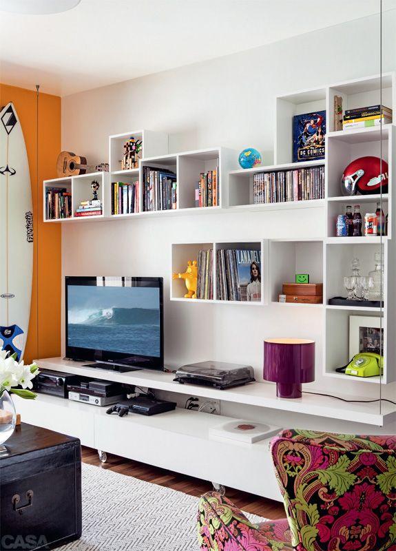 Seis ambientes onde as estantes são as protagonistas - Casa (COM MEDIDAS DOS MÓVEIS)