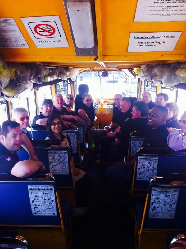 A picture from the London Duck Tour as part of Project Gemini #BlindVeteransUK
