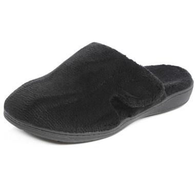 #ilovetoshop Orthaheel Orthotic Gemma Plush Slippers - BLACK