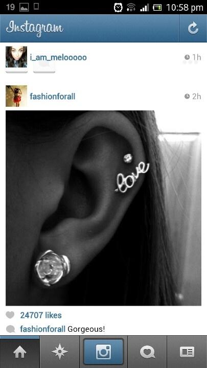 Love top of ear piercing