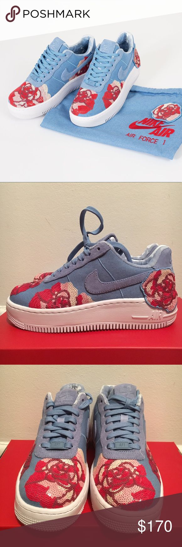 *NEW* Womens Airforce 1 Upstep LX *OFFER* Womens AF1 Low Floral Sequin Pack || BRAND NEW || Size 6 Women's || Out of Stock on Nike || Sold out in stores || Suede inside || Box with no lid || Comes With Bag || OFFER! Nike Shoes Sneakers