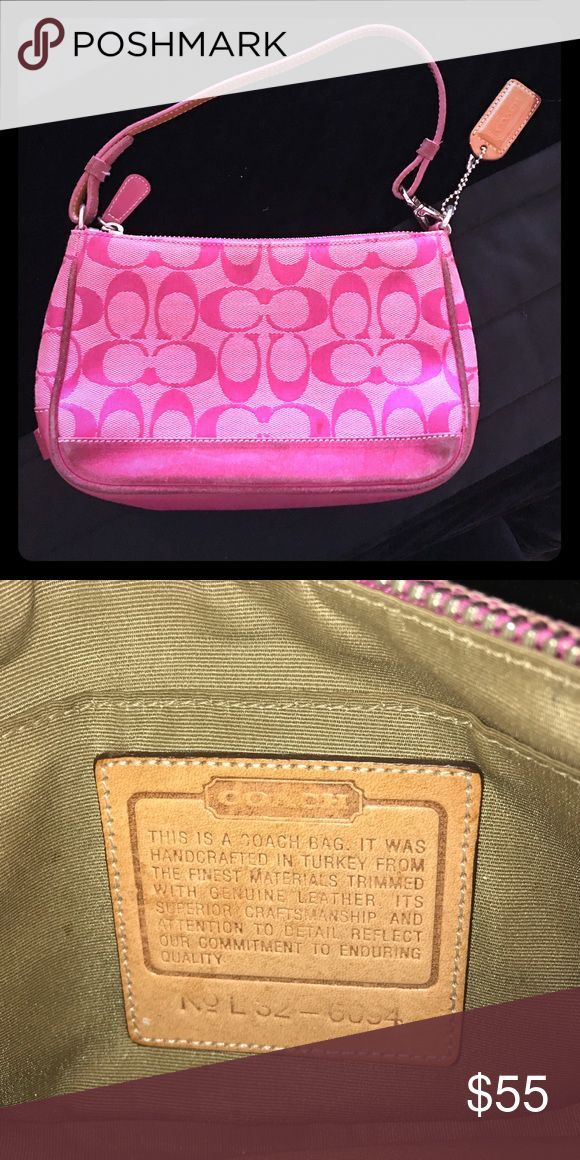 Coach Purse Perfect for Valentine's Day 💗💗 Pink coach bag with c's. Includes one inside pocket. Coach Bags