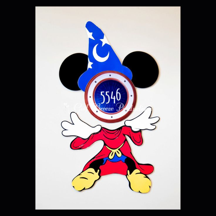 Sorcerer Mickey Mouse Magnet for Disney Cruise Door by GulfBreezeProduction on Etsy