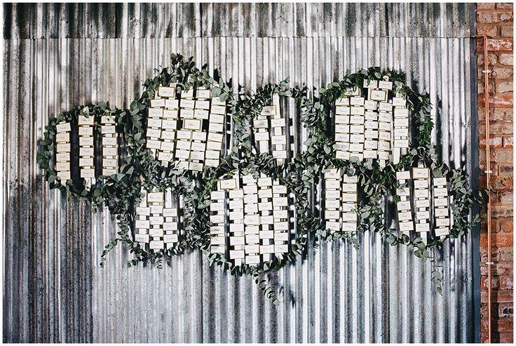 www.vanillaphotography.co.za | Durban wedding photographer, Durban wedding venue, Crystal Barn wedding venue, rustic wedding venue, boho venue, reception decor, table seating plan, vines, greenery, gold.