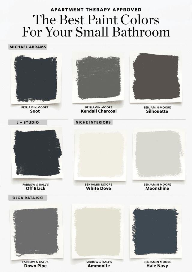 Aquí están los mejores colores de pintura para su baño pequeño #bathroominspirationforsm … baños