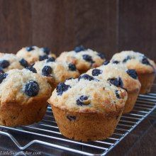 BLUEBERRY BUTTERMILK MUFFINS. A soft and moist muffin full of juicy blueberries and a scent of vanilla and cinnamon spice. This is a quick and easy go-to recipe for whenever you feel like homemade muffins.