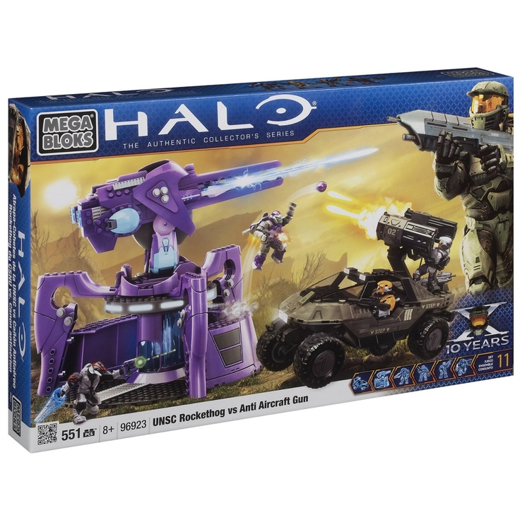 Amazon.com: Megabloks Halo UNSC Rockethog vs Anti Aircraft Gun: Toys & Games