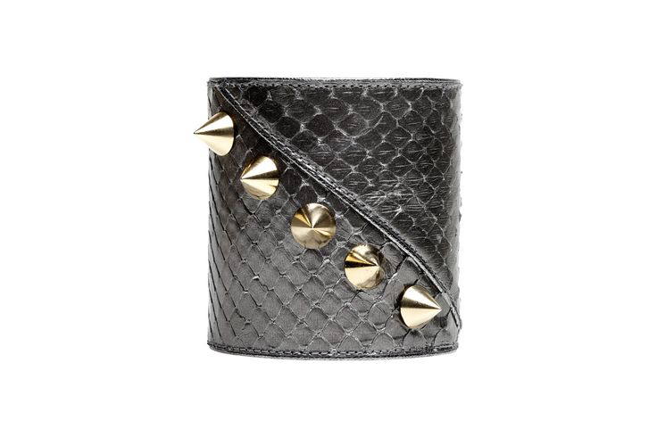 Barbarella bracelet in python skin with studs
