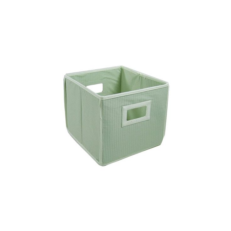 Badger Basket Company Textured Fabric Cube - Sage, Green