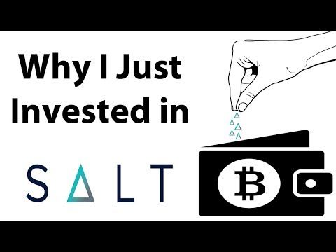 Why I Just Bought a Ton of Salt  Salt is a lending platform & cryptocurrency token designed to connect borrowers and lenders for collateral-backed (Bitcoin) loans. The collateral is cryptocurrencies such as Bitcoin. Right now there is no platform and hence there is zero use case for the Salt tokens. However Salt is intending on launching their platform this month and if it is successful I anticipate Salt tokens will appreciate in value hence I am taking a chance. The risk is very high - we…