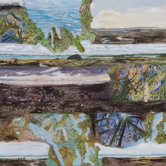 Ghosting Kaipara,2013 from Ka ecologies  Oil on board 790 x 790mm
