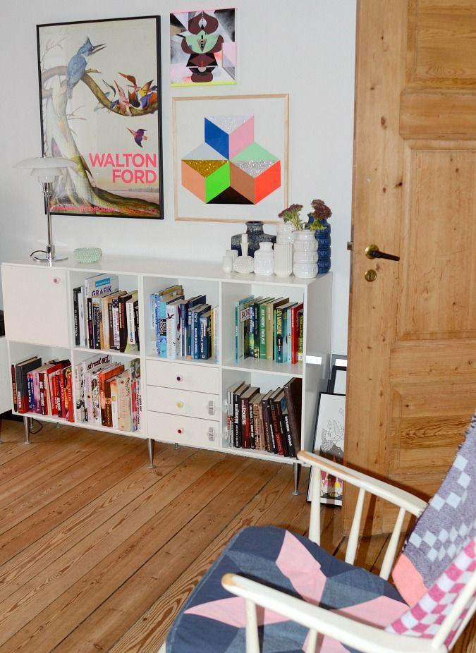 Glimmer på væggen: Geometrisk collage - LeizyB