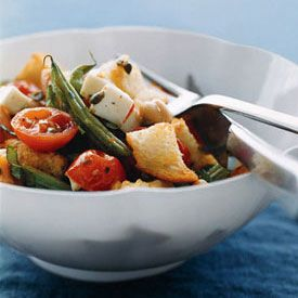 Roasted-Vegetable Panzanella = house favorite