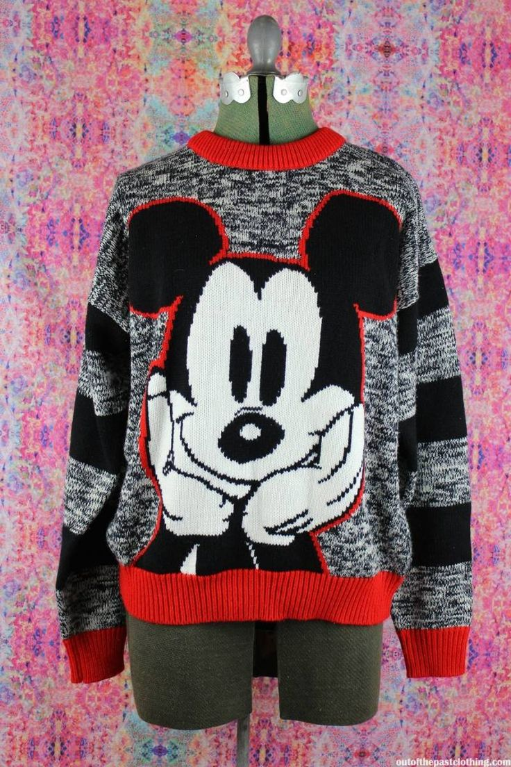 Vintage 1990s Mickey Mouse Knit Sweater