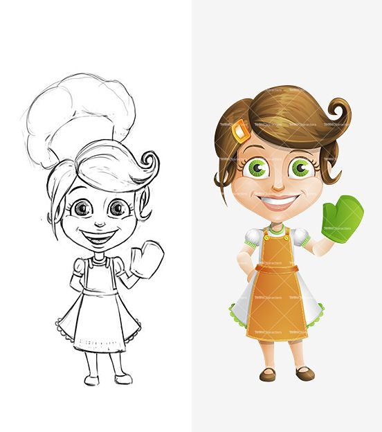 A Cartoon Character Girl : Housewife cartoon character female characters