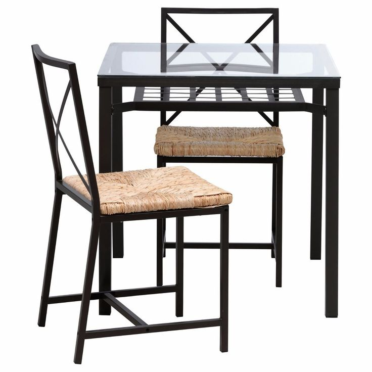 IKEA glass dining table and chairs #IKEA