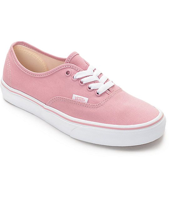 VANS || Freshen up your back to school look with these zephyr and white Authentic's from Vans. A dark pink color with accents of white is the perfect way to add a little girlish charm to your day.