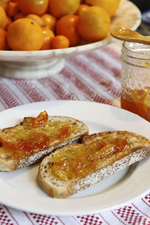 Toast with homemade marmalade or jam