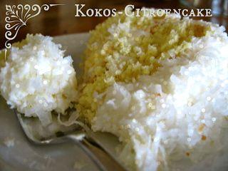Citroen kokosmeel cake