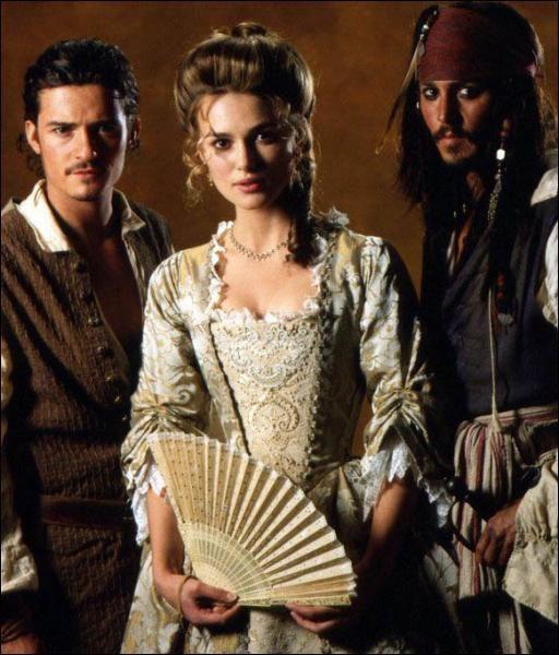 Elizabeth Swan's gold robe à la française in Pirates of the Caribbean