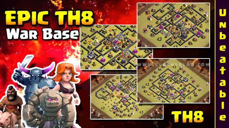 epic th8 war base, coc, clash of clans, th8, base, town hall 8, layout, best, 2017, anti dragon, coc design, defense, update, 3 star, anti 2 star, top, new,