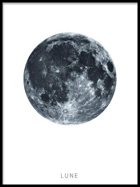 Lune, plakater i gruppen Plakater / Størrelser / 30x40cm hos Desenio AB (8143)
