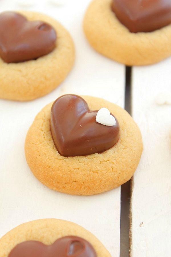 Cookies au Beurre de Cacahuète & Coeur en Chocolat #
