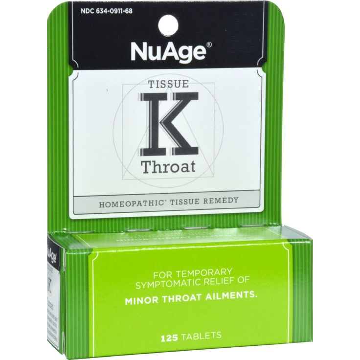 Hylands Tissue K Throat - 125 Tablets - Hylands Tissue K Throat Description: Homeopathic Tissue Remedy--For the temporary symptomatic relief of the symptoms of minor throat ailments. Tissue K contains the following: Ferrum Phos for the symptoms of red, hot inflamed throat. Kali Mur for the symptoms of swollen, sore throat, often worse when swallowing. Kali Phos for the symptoms of sore, swollen throat and often a white, coated tongue. Disclaimer These statements have not been evaluated by…