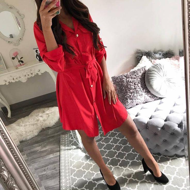 •Red shirt-dress• New Arrival Παραγγελίες: ° Με Μήνυμα,° ☎ Τηλεφωνικά: 2104965329, ° Εδώ: https://madstylefashion.gr/nees-afixeis/-650.html 🚲Αυθημερόν Παράδοση Εντός Αττικής ΔΩΡΕΑΝ🚲