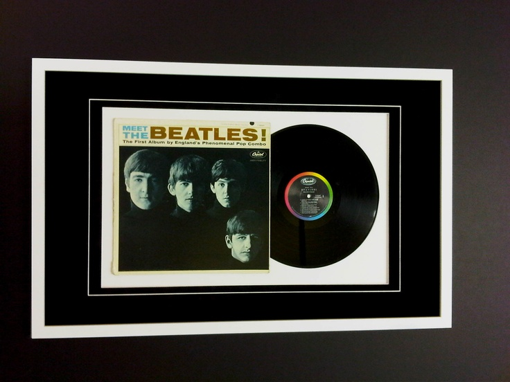 Just finished framing The Beatles First Album, that I pinched off me mam on my last visit home.