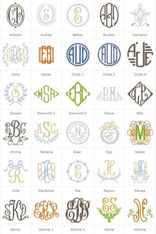 best 25  monogram fonts ideas on pinterest