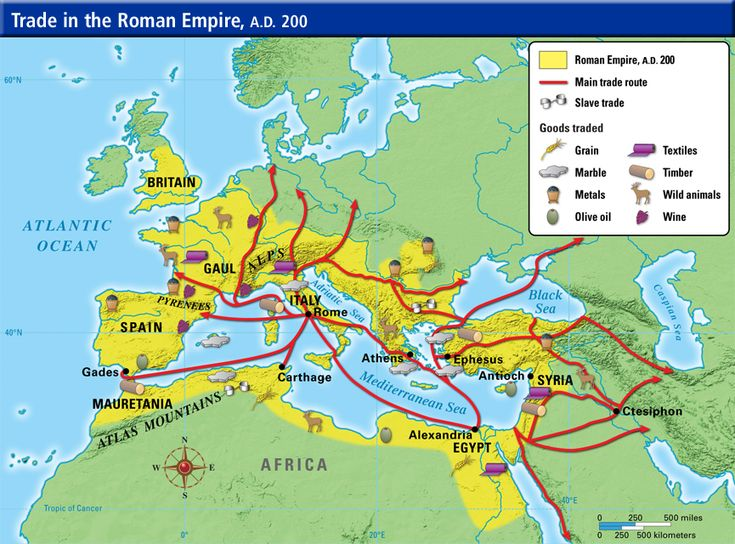 Ancient Roman Trading Map Trade Networks Pinterest Roman - Map of egypt greece and rome