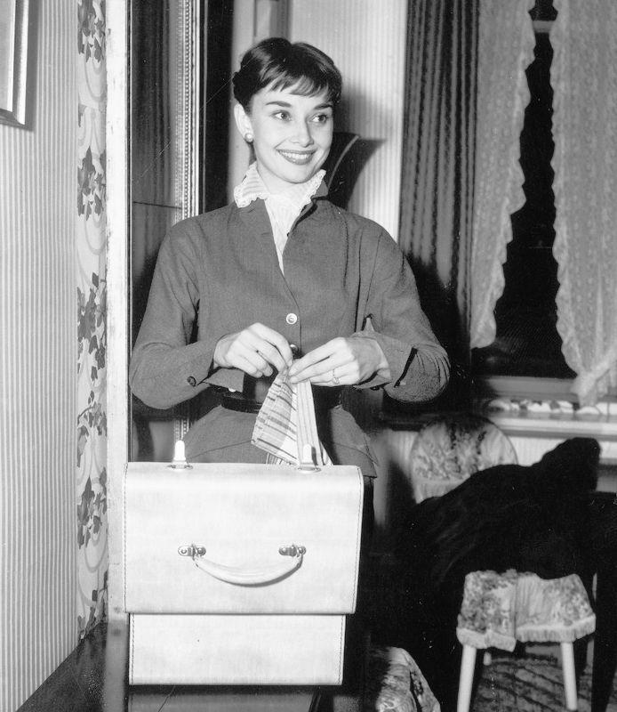 Rare Audrey Hepburn — Audrey Hepburn with her mother and fiancé James...