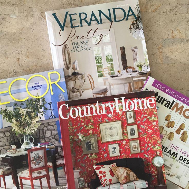 Home decor, interior design magazines  Elle Decor, Veranda, Country Home and Natural Modern
