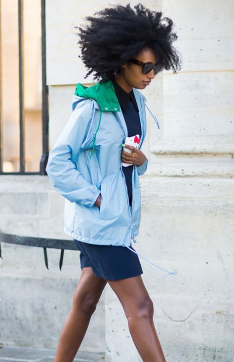 Street style inspiration: Colorful Anorak