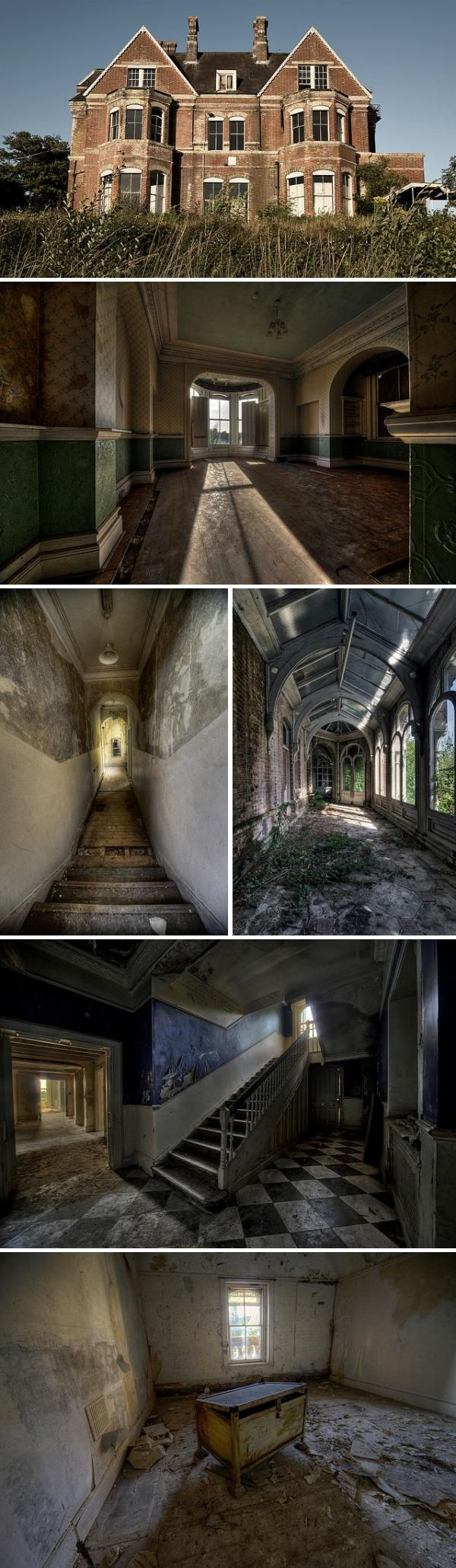 OOH, this moves to the top of the list as my visual inspiration for CASI!    abandoned girls school in the UK