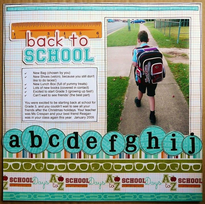 great layout for back to schoolScrapbook Schools, Scrapbook Layout Schools, Schools Scrapbook, Alphabet Letters, Papercraft Scrapbook, Schools Pics, Cards Scrapbook Papercraft, Scrapbook Circles, Scrapbooking Layouts