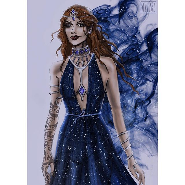 Night followed her steps✨ • Merry Christmas have some Feyre ⭐️