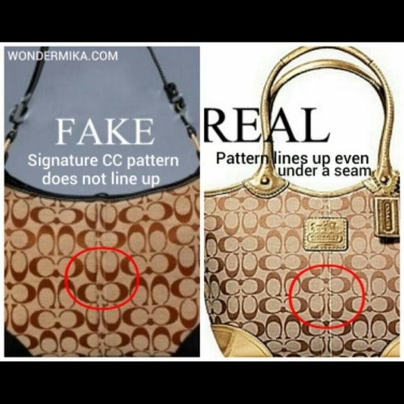 """**Real Coach vs fake Coach** PLEASE read and educate yourself BEFORE you purchase any item that is being advertised as """"AUTHENTIC COACH""""!! Far too many people are doing their research only AFTER they have already bought and received their items. Here are some of the ways to tell the difference between authentic Coach and fake Coach, shown in pictures. Coach Bags"""