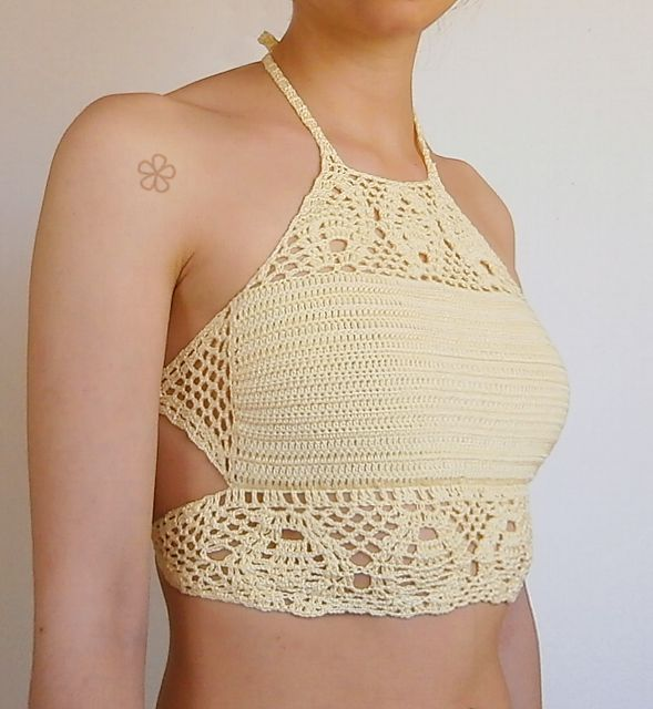 "Ravelry: The ""TROPICAL"" crop top _ C15 crochet pattern by Melissa Flores"