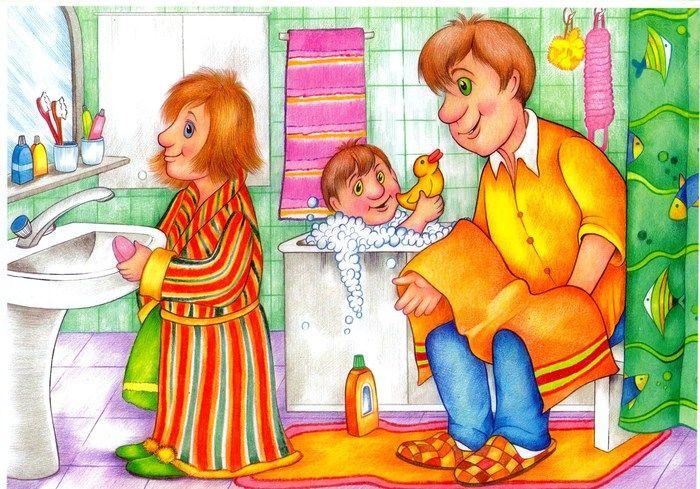 Александр Юзбашев - Семья в ванной