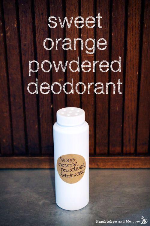 Sweet Orange Powdered Deodorant Recipe